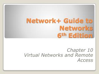 Network Guide to Networks 6th Edition