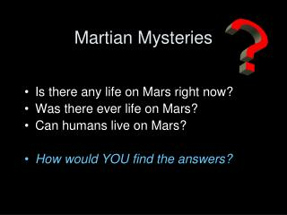 Martian Mysteries