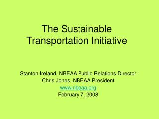 The Sustainable Transportation Initiative