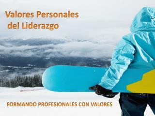 Valores Personales  del Liderazgo
