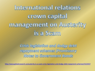 International relations crown capital management Austerity