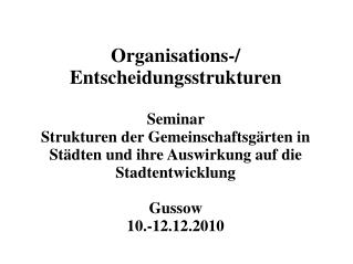 Organisations-