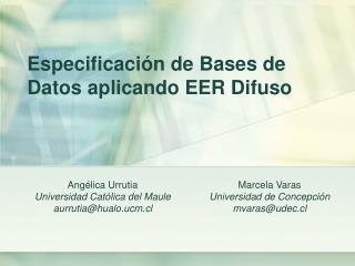 Especificaci n de Bases de Datos aplicando EER Difuso