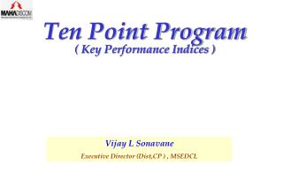 Ten Point Program  Key Performance Indices
