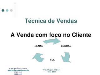 T cnica de Vendas    A Venda com foco no Cliente