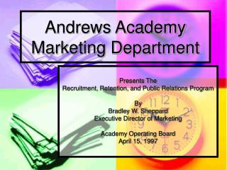 Andrews Academy Marketing Department