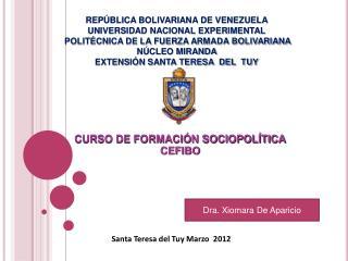 REP BLICA BOLIVARIANA DE VENEZUELA UNIVERSIDAD NACIONAL EXPERIMENTAL  POLIT CNICA DE LA FUERZA ARMADA BOLIVARIANA N CLEO