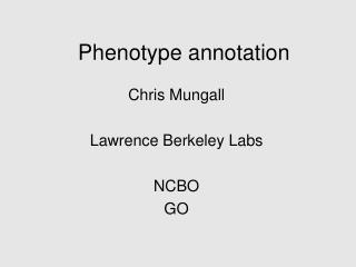 Phenotype annotation