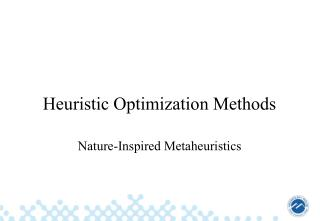Heuristic Optimization Methods