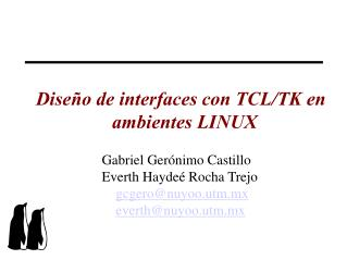 Dise o de interfaces con TCL