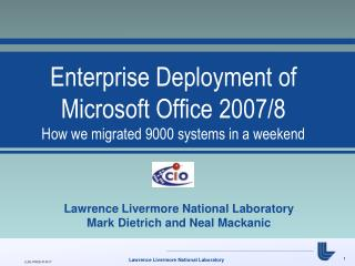 Enterprise Deployment of Microsoft Office 2007