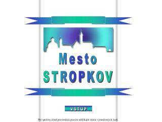 Mesto STROPKOV