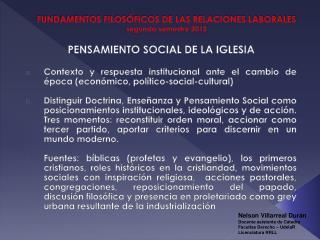 FUNDAMENTOS FILOS FICOS DE LAS RELACIONES LABORALES segundo semestre 2012