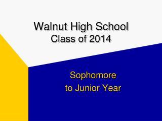 Walnut High School Class of 2014