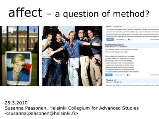 Affect   a question of method