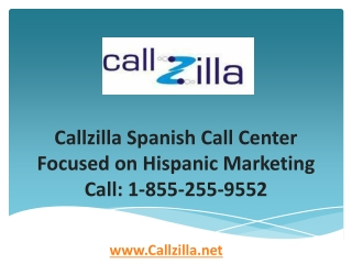 Callzilla Spanish Call Center Focused on Hispanic Marketing