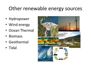 Other renewable energy sources