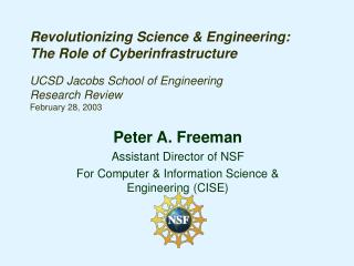 Revolutionizing Science  Engineering: The Role of Cyberinfrastructure  UCSD Jacobs School of Engineering Research Review
