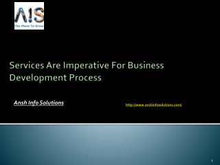 Services Are Imperative For Business Development Process