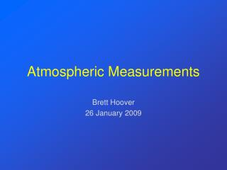 Atmospheric Measurements