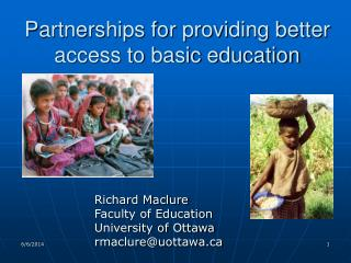 Partnerships for providing better access to basic education