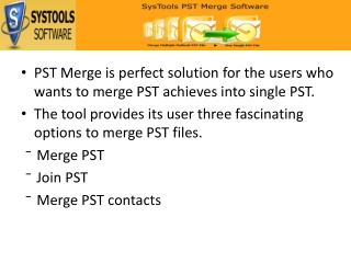 PST Merge Software