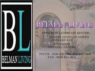 Belman Living LLC - Concrete and Pavers