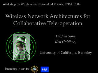 Wireless Network Architectures for Collaborative Tele-operation