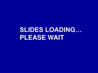 SLIDES LOADING   PLEASE WAIT
