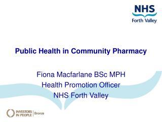 Public Health in Community Pharmacy