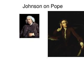 Johnson on Pope
