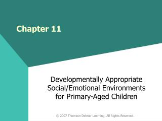 Developmentally Appropriate Social