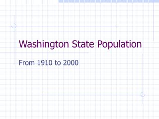 Washington State Population