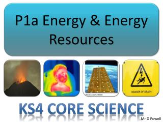 P1a Energy  Energy Resources