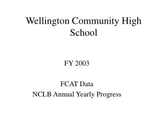 Wellington Community High School