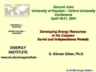 Developing Energy Resources  in the Caspian:   Soviet and Independence Periods