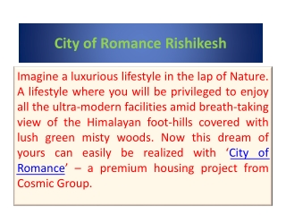 City Of Romance Rishikesh Call @ 8010273030
