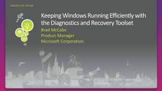Keeping Windows Running Efficiently with the Diagnostics and Recovery Toolset