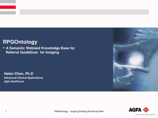 RPGOntology  - A Semantic Webized Knowledge Base for    Referral Guidelines  for Imaging