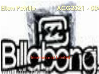 Ellen Petrillo          ACG2021 - 004