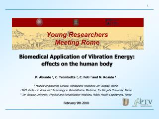 Biomedical Application of Vibration Energy:  effects on the human body