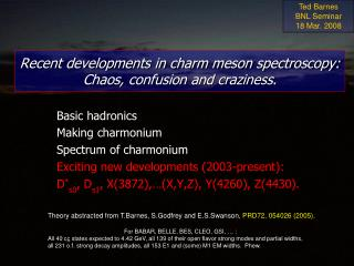 Recent developments in charm meson spectroscopy:  Chaos, confusion and craziness.