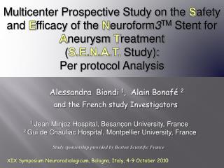 XIX Symposium Neuroradiologicum, Bologna, Italy, 4-9 October 2010