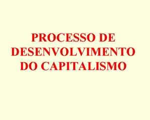 O sistema capitalista