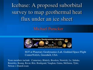 Icebase: A proposed suborbital survey to map geothermal heat flux under an ice sheet
