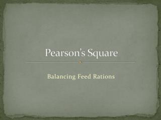 Pearson s Square