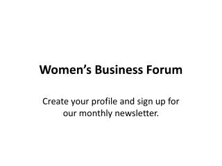 Women s Business Forum