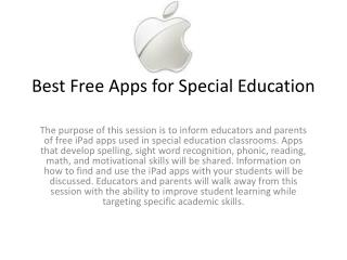 Best Free Apps for Special Education