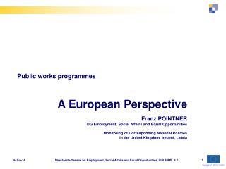 Public works programmes