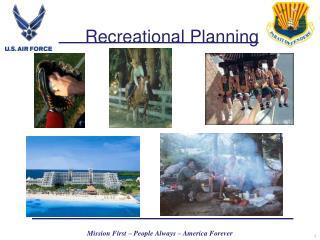 Recreational Planning